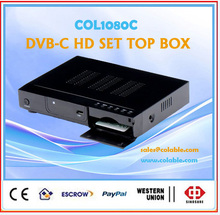 satellite tv decoder for encrypted channels iptv box,1080P DVB-C HD SET TOP BOX iptv, high definition strong decoder COL1080C