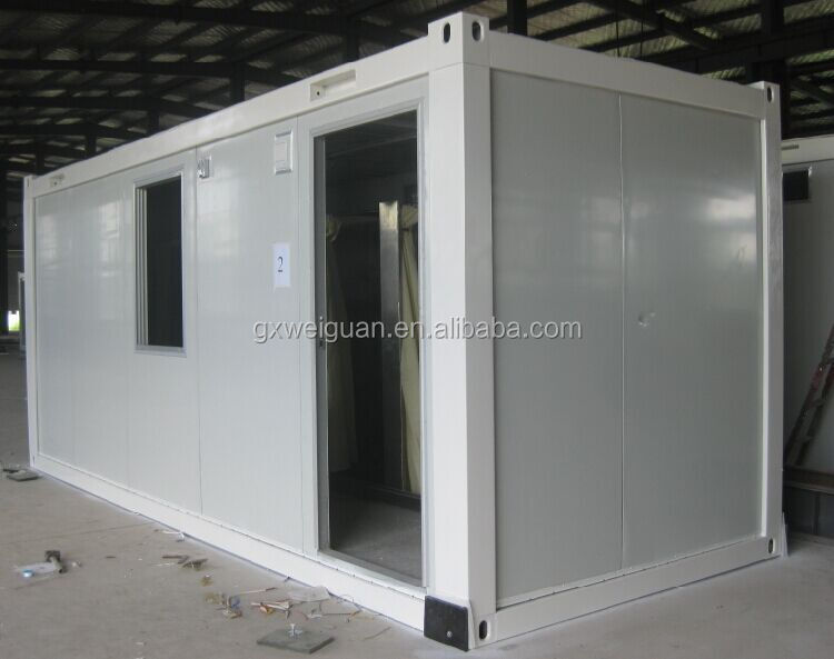 Flat pack container cabin