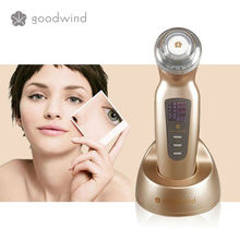 Handheld Ultrasonic facial massage machine face slimmer skin exfoliating device