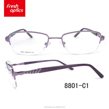 8801 Wholesale cheap price latest design in italy metal optical frame
