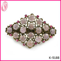 America fashion large crystal metal spring hair clips