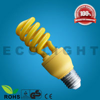 High Quality CE Approval Yellow full spiral half spiral energy saving lamp