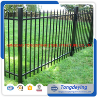 Manufacturer Direct Supply Powder Coated Ornamental Wrought Iron Pool Fence Ornamental Removable Wrought Iron Pool Fence