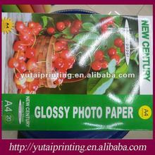 A4 pure wood pulp base paper High glossy inkjet photo paper
