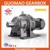 Cycloidal pin wheel power transmission gearbox with electric ac motor