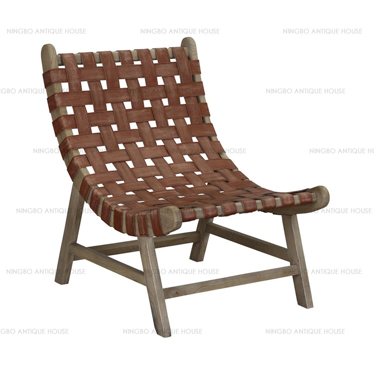 Eco-Friendly Antique Style Rustic Recycled Wood recliner chair