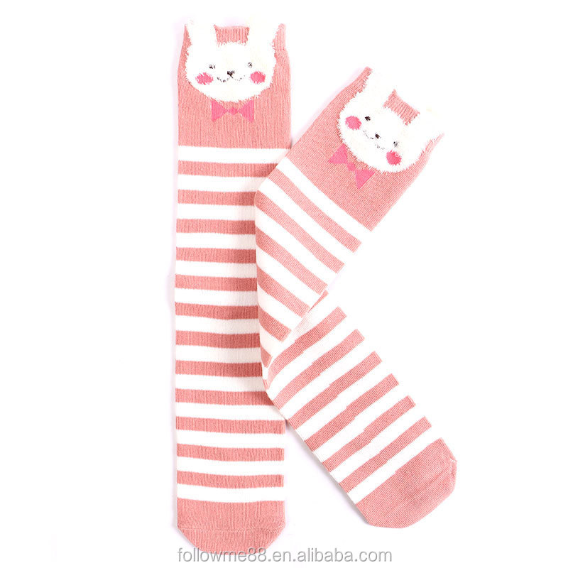 S5 Cartoon Cute Children Socks Print Animal Cotton Baby Kids Socks Knee High Long Fox Socks For Toddler Girl Clothing match