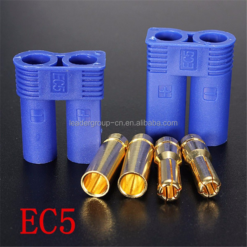 <strong>1000</strong> sets 1 Male/1 Female Connector 2 Male / 2 Female 5MM bullet Plugs adapter EC5 style connector + Register
