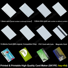 Factory price PVC material chip S50 contactless smart rfid classic 1k card