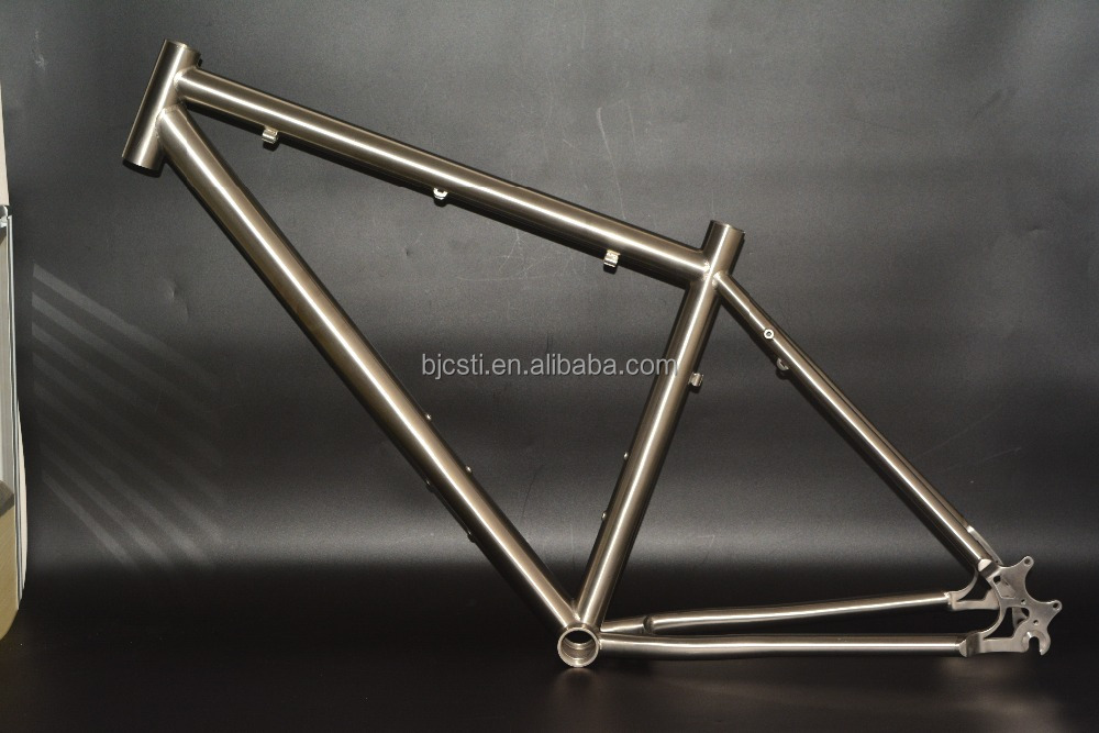 Supply 26/27.5*18'' titanium touring bike frame with disc brake from China factory