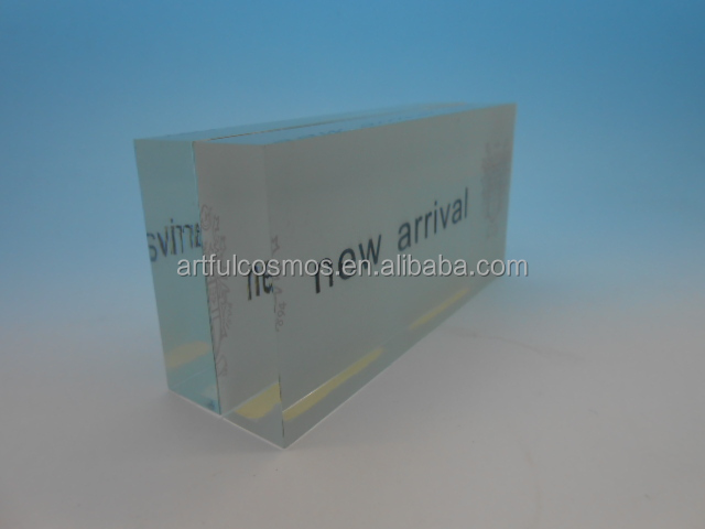 best selling acrylic block sign holder with low price