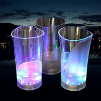 vase plastic LED flashing light cup with logo