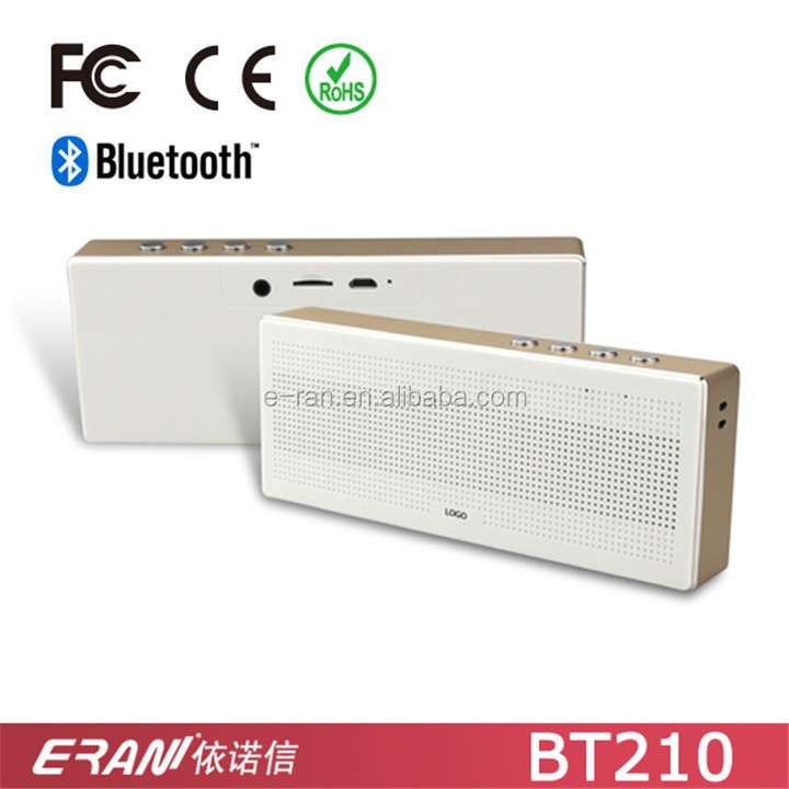 2017 portable outdoor use metal cuboid bluetooth speaker with TF card play