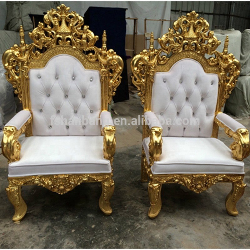 White Tiffany Golden Silver Antique Royal High Back Throne Carved King  Queen Ball Chair For Bride And Groom - Buy Throne Carved King Queen Chair, Chairs For ... - White Tiffany Golden Silver Antique Royal High Back Throne Carved