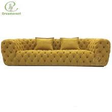 Comfortable Italian grey hotel original <strong>modern</strong> cheap chesterfield sofa for sale