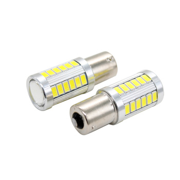 BA15S 1156 33 5730 SMD Car LED Bulb Dome Reverse Light Super Bright Tail Turn Backup Lamp White Yellow Red 12V