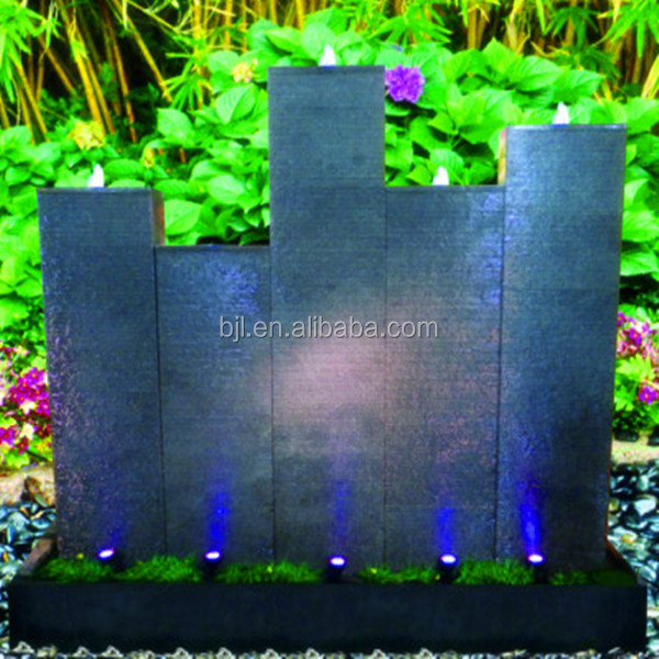 Home and garden stone wall water fountains waterfalls artificial fiberglass