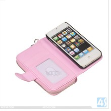ultra-thin flip leather case for iphone 4 P-APPIPN4SPUCA002