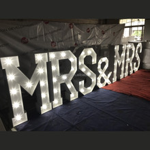 Beautiful Light up letters wedding hall decoration