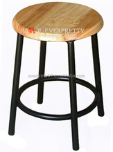 Cheap Round Laboratory Furniture Wood Lab Stool for Student