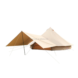 100% waterproof Canvas 6m Bell Tent Adaptable Awning for sale