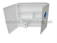 multifunctional white metal wall cabinet empty first aid box emergency medical storage box empty cabinet