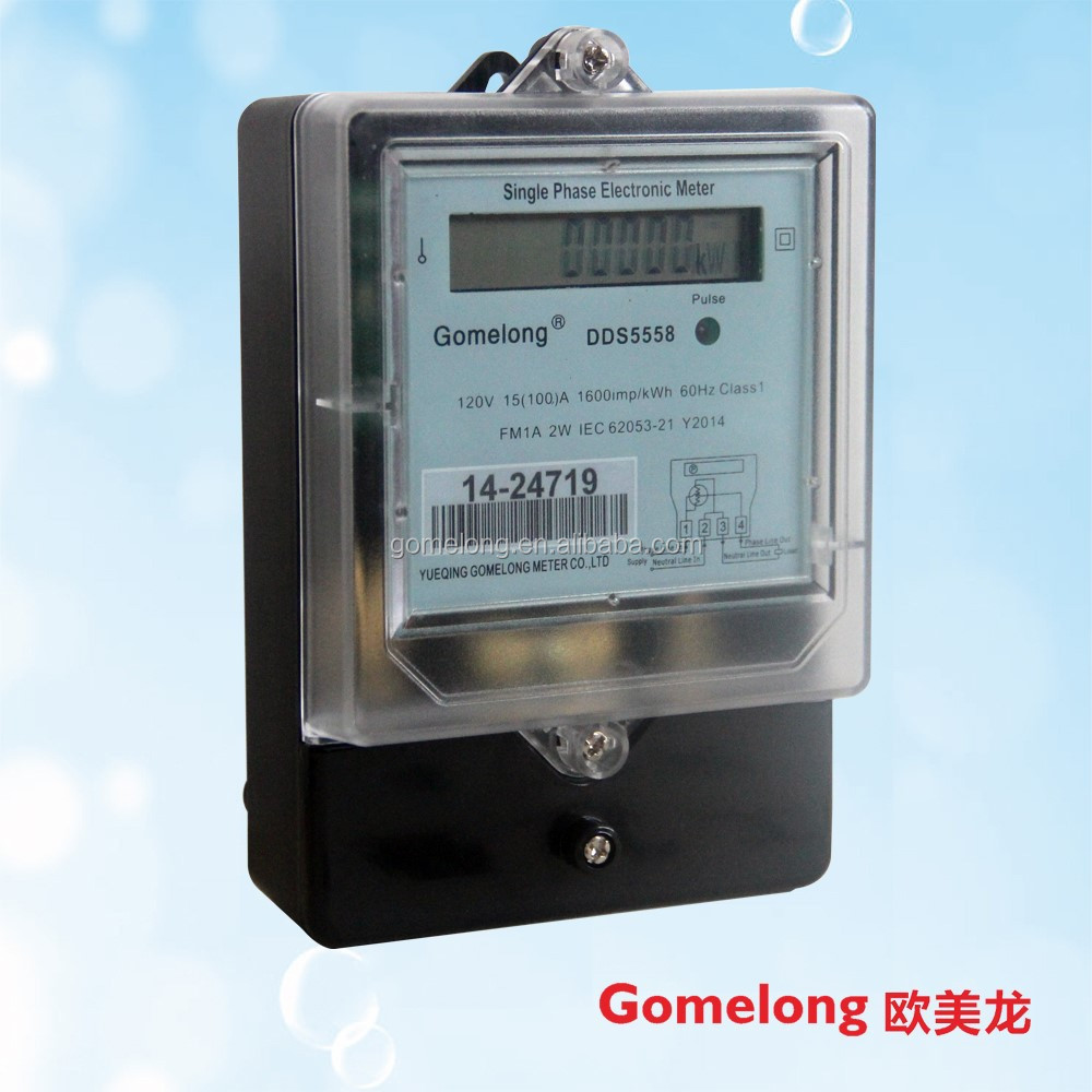 DDS5558 single phase electronic energy/power meter LCD