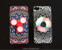 Mandala Pressure Relieve Cellphone Case with Hand Spinner