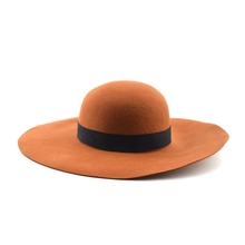 New Fashion Women Lady Cap Wide Brim Felt Floppy Hat Wholesale
