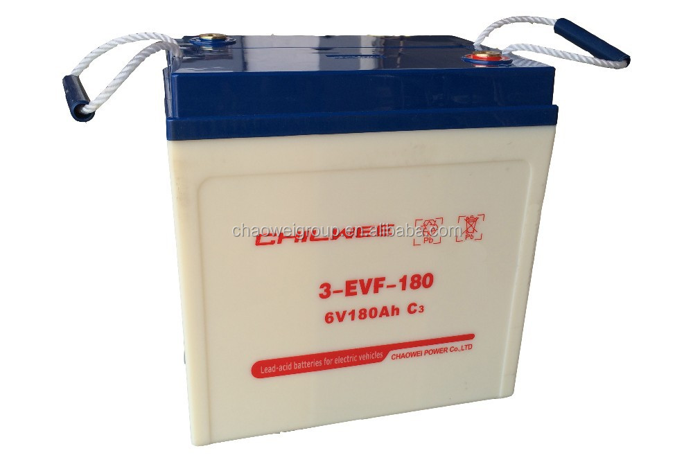 Lead Acid Battery for electric car, tricycle, golf cart, 6V 210Ah @ 10hr rate