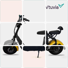 60v 1500w Halley style two seat electric bike