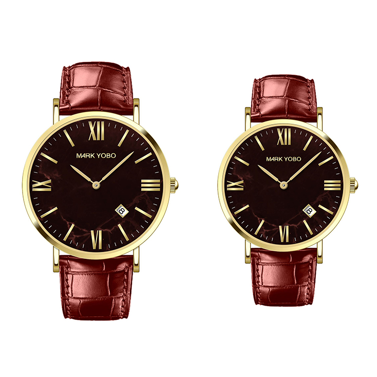 Stainless Steel Cheap Couple Leather Watch