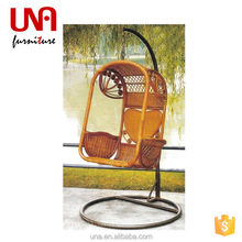 Una outdoor bamboo swing chair glider swing hanging chair rattan swings