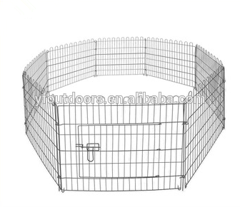 Fast delivery expandable large dog kennel stainless steel iron cage