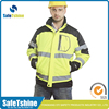 High visibility reflective safety warm winter jacket