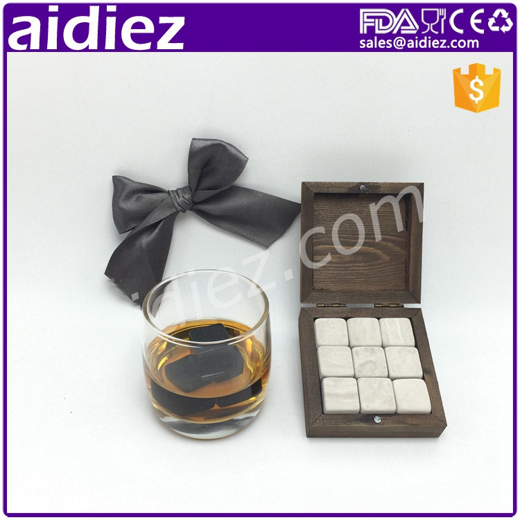 AIDIEZ Hot Sell Whisky Sipping Stones Natural Soap stone Box Set