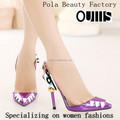 2015 Purple and black high heel sandals with eye design sexy high heel pumps sandals PY3795