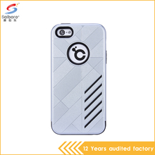 High quality tpu and pc material shockproof white color plastic anti-scratch case for iPhone 5
