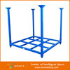 Foldable steel tire storage rack used in warehouse stacking frame