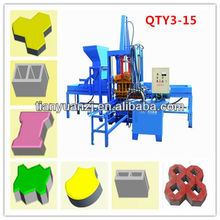 Tianyuan QTY3-15 low price pervious pavement brick making machine line Factory Supply