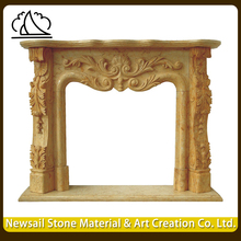 Victorian Modern Style Marble Stone Fireplace For Sale