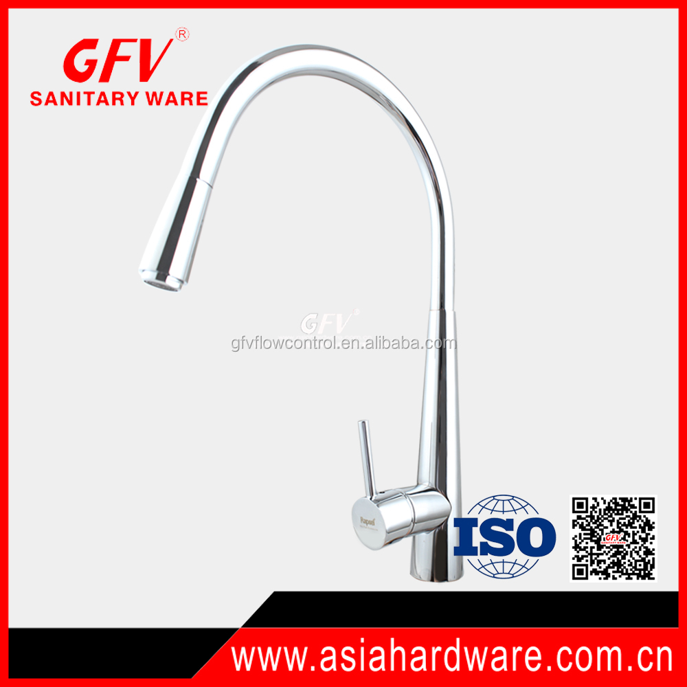 GFV-K1074 New design hot sale brass chrome spary kitchen mixer