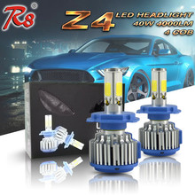 R8 Factory Drop Ship Patent Product Z4 Series H4 H13 9004 9007 LED Car Headlight Conversion Kit Bulbs 40W 4000LM Hi/Lo Beam