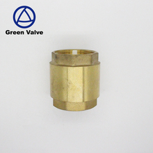 Green-GutenTop 1/2 3/4 1 11/4 2 Inch NPT No Return Plastic core Brass Water Vertical Spring Loaded Ball lift Check Valve