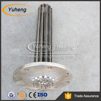 Stainless Steel Flanged Water Heater Element and Thermostat