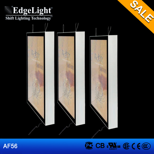 Edgelight AF56 aluminium magnetic light box led menu used for advertising