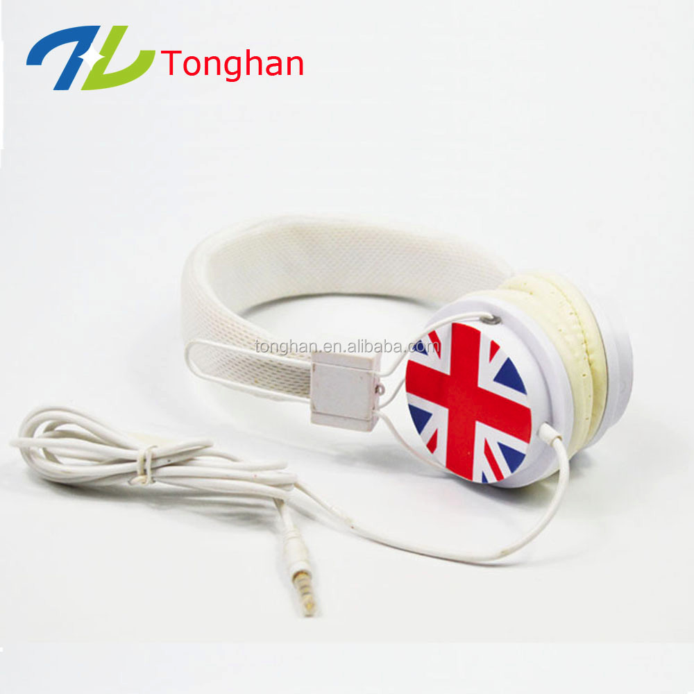 High qualtiy OEM logo wired promotional activities White headphones with mic