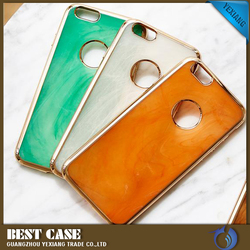 Simple polished fully protective jade cell phone case with three colors for iphone 6 Plus