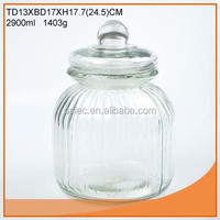 Food grade airgitht glass jar with glass lid and plastic seal for Europe market