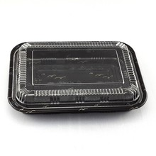 Transparent Lid packaging box Disposable Plastic Sushi Container